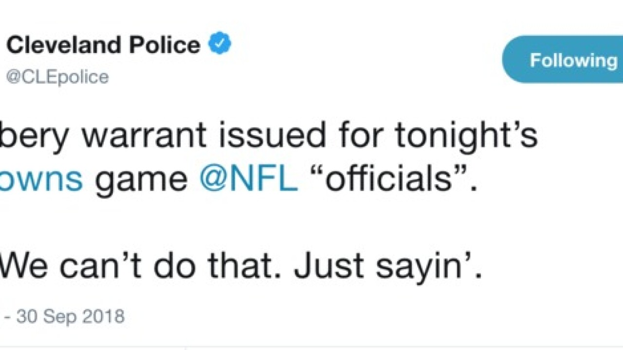 The CPD had the perfect response to Browns loss