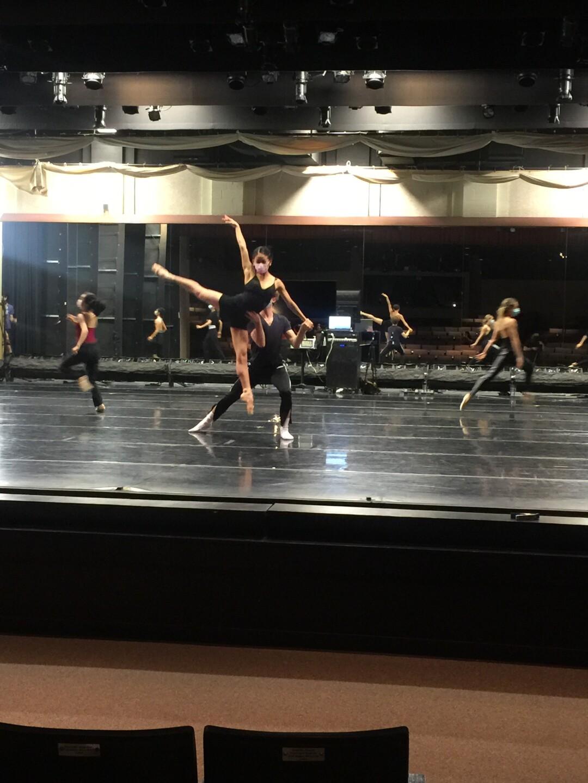 Tulsa Ballet dancers rehearsing