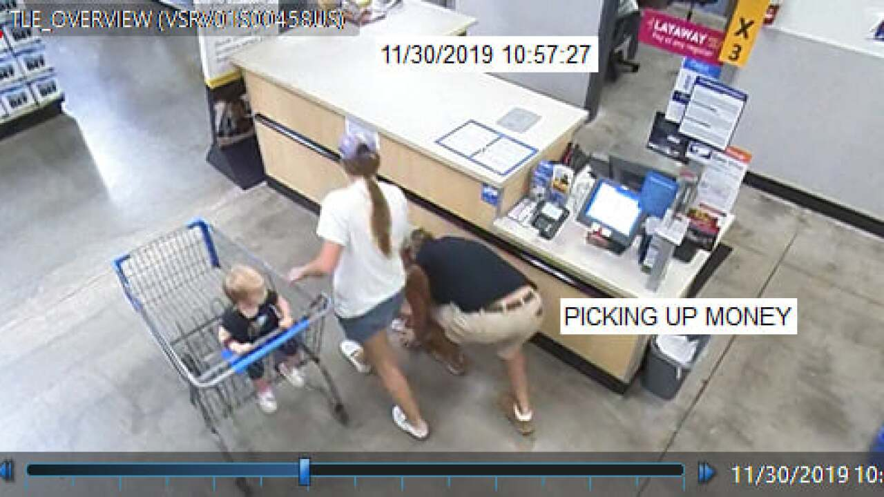 Aransas Pass Police are looking for a couple caught on video not returning an envelope filled with cash