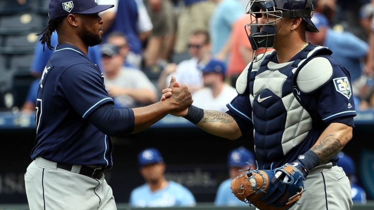 Tampa Bay Rays beat Kansas City Royals 5-3 for 3-game sweep