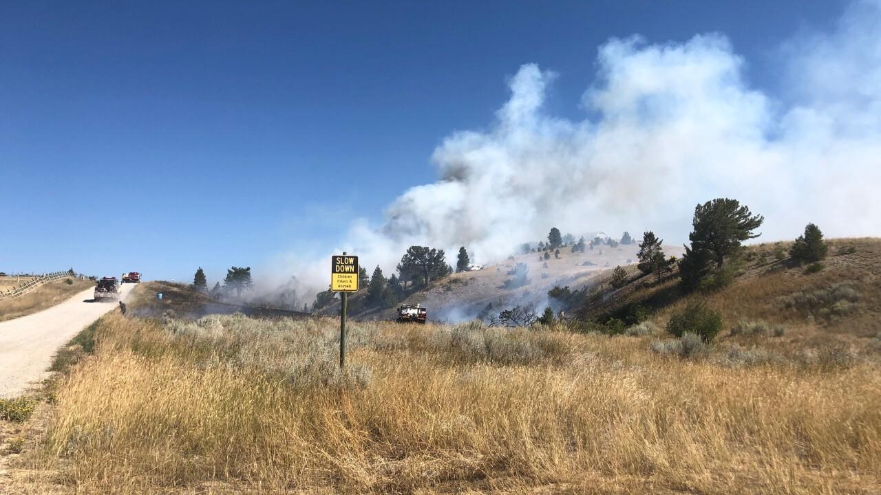 Several fires burning northwest of Helena