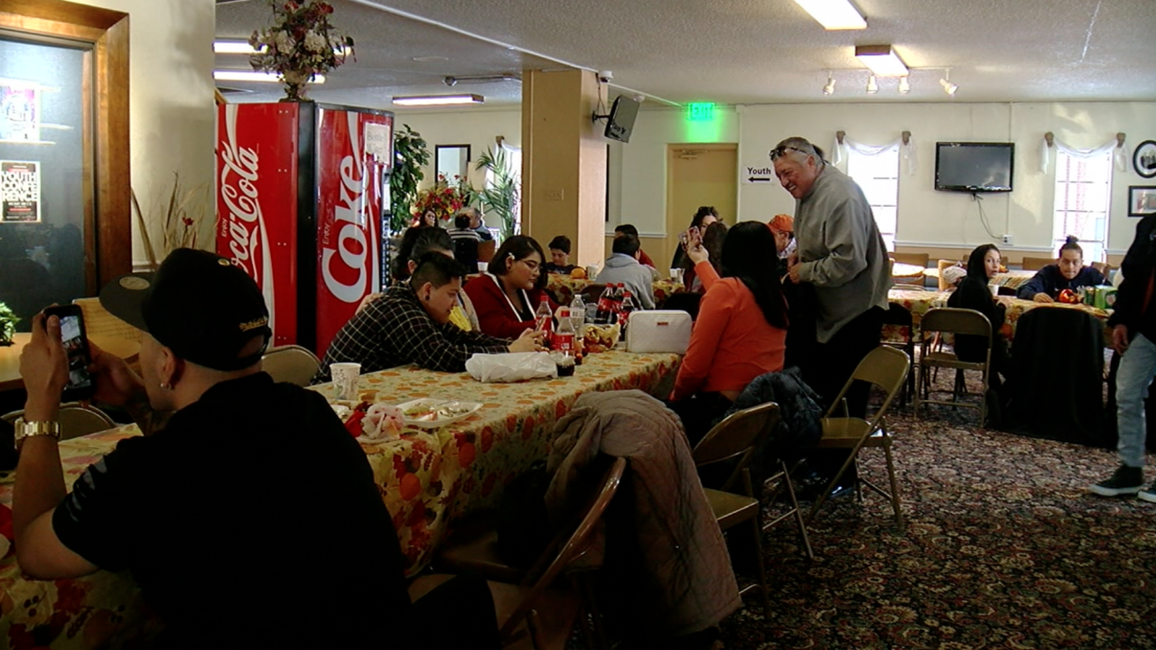 Thanksgiving dinner at rehabilitation center