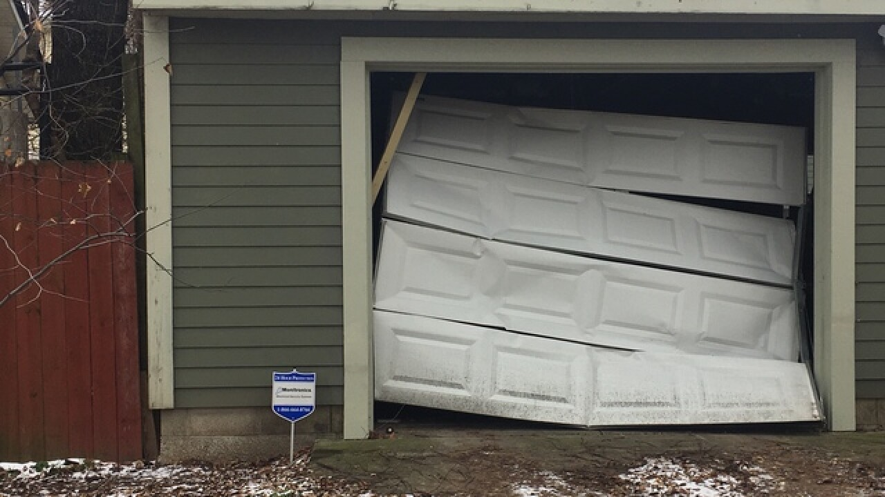 Series of garage doors smashed in Indy