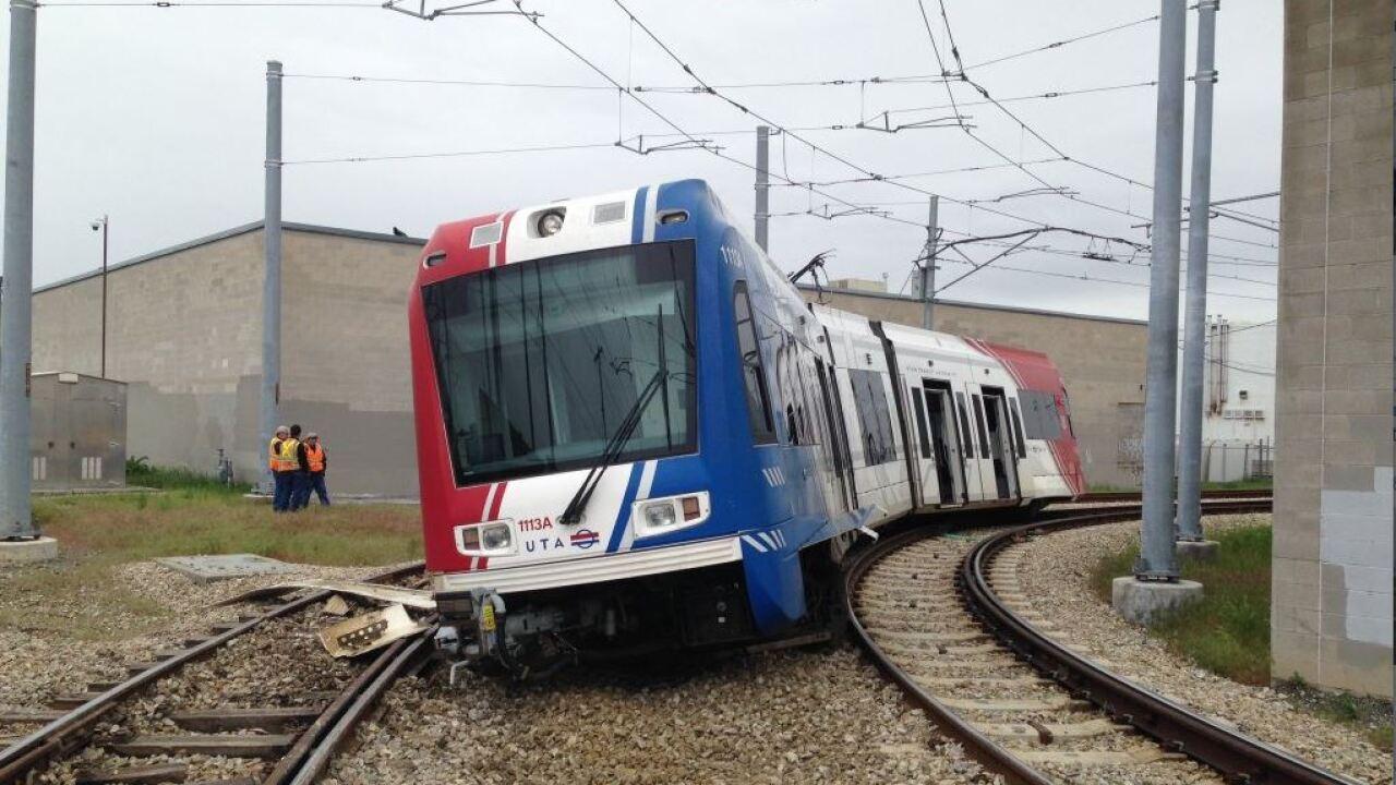 Three sent to hospital after TRAX train derails in Salt LakeCity