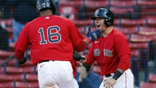 Franchy Cordero, Christian Vazquez Tigers Red Sox Baseball