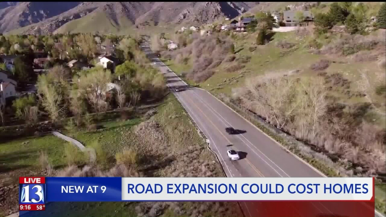 Some Cottonwood Heights residents could lose homes to Wasatch Blvd.expansion