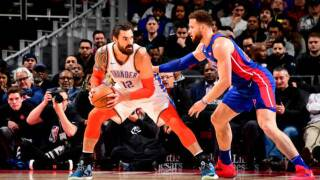 Steven Adams, Russell Westbrook lead Thunder to rout of Pistons