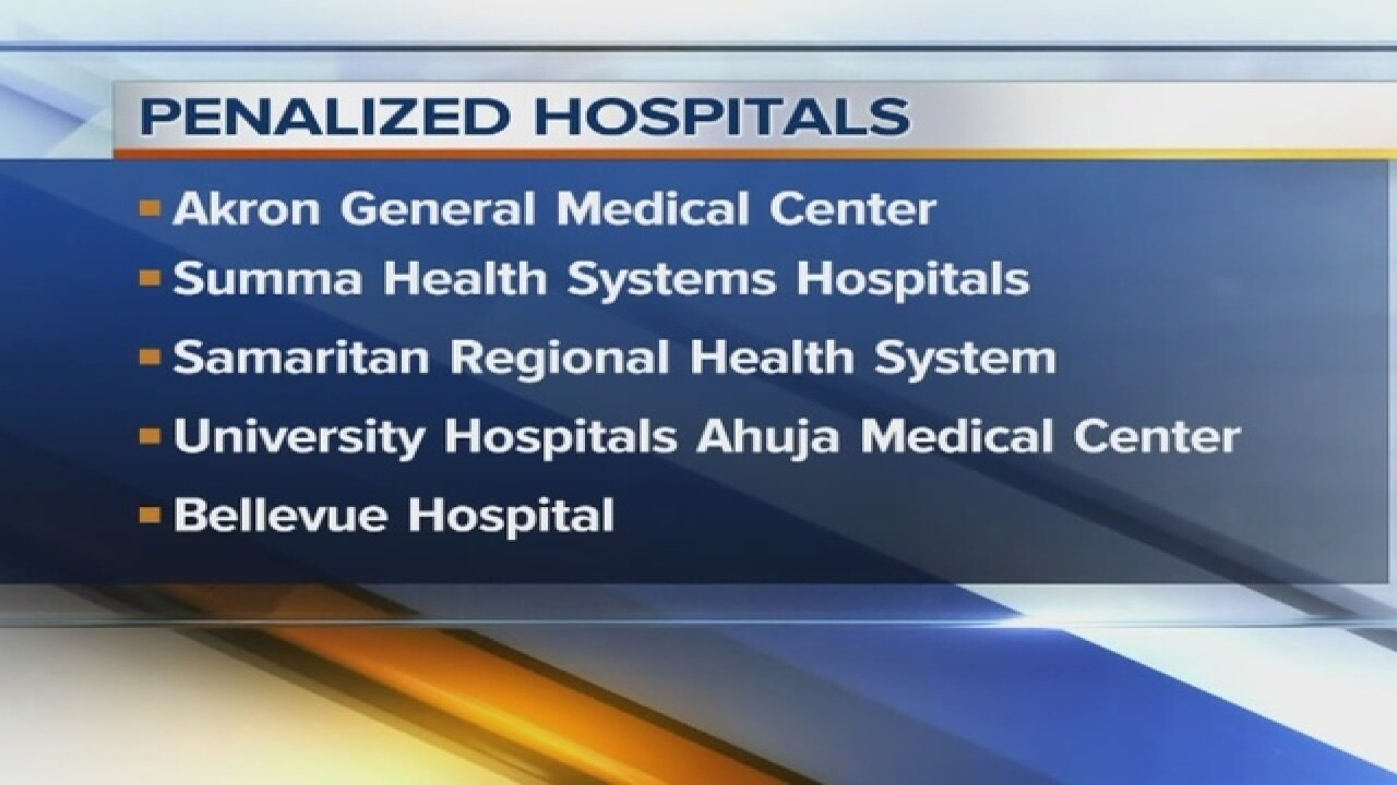 Local hospitals penalized over patient safety