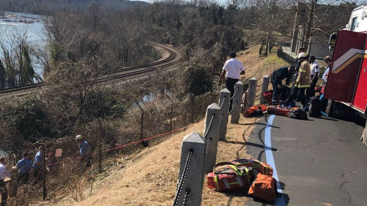 Richmond cyclist rescued after North Bank Trail fall