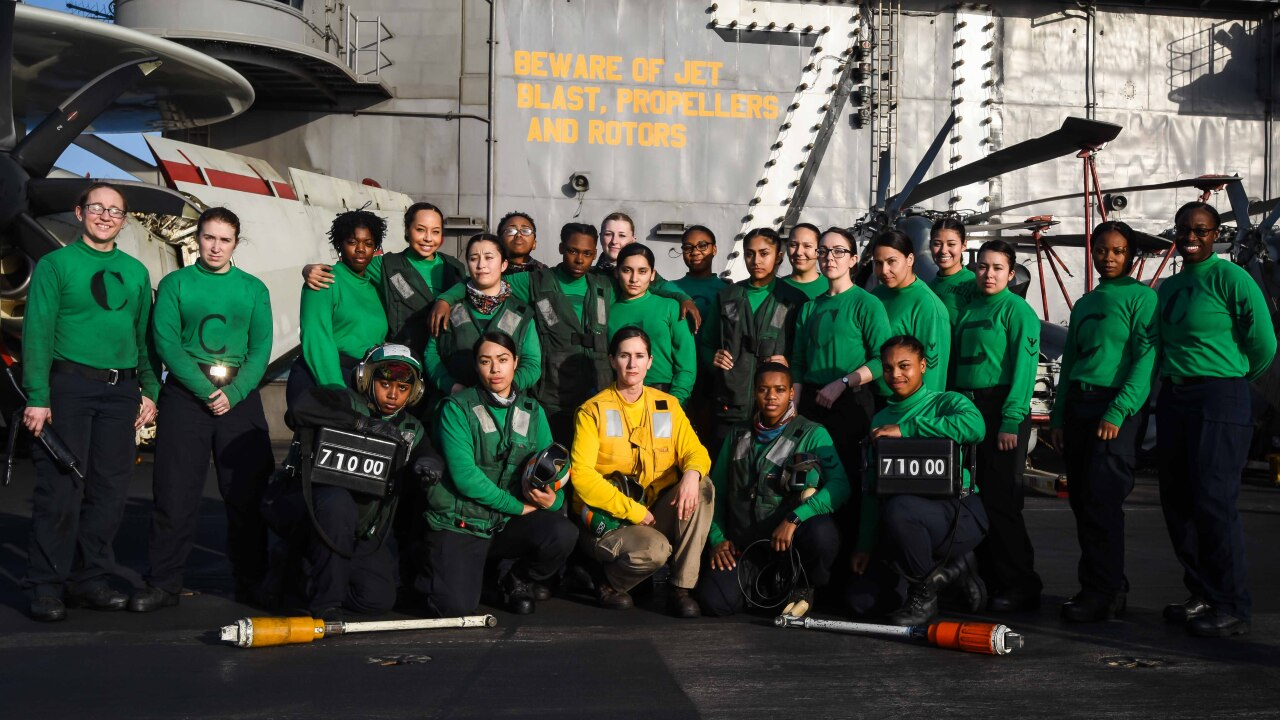 Hampton native serves with U.S. Navy alongside all-female crew