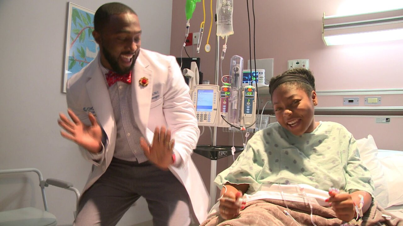 The 'Dancing Doctor' visits Norfolk's CHKD patients