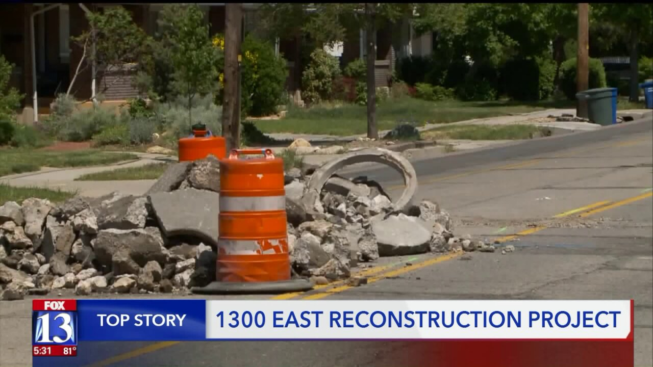Road construction shuts down part of 1300East