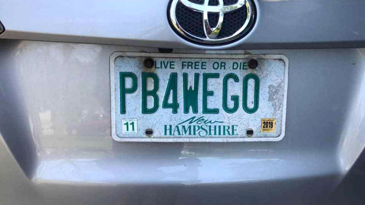 A mom with license plate reading 'PB4WEGO' wins battle with New Hampshire to keep it