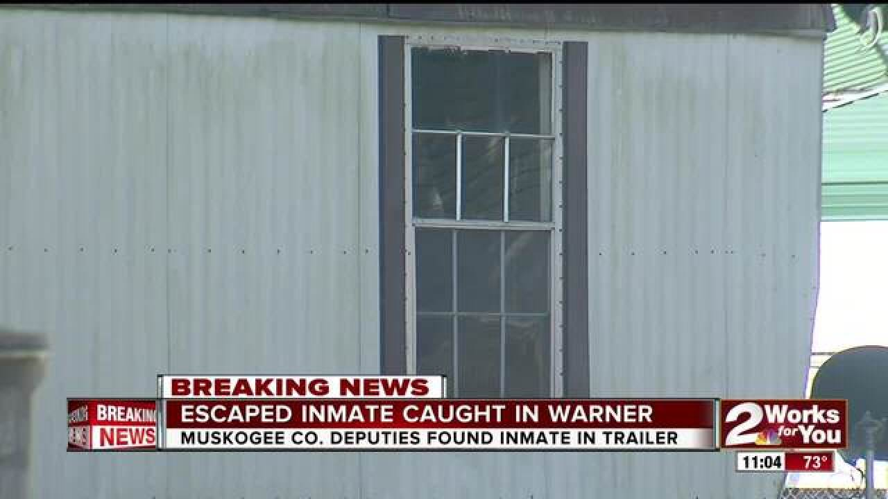 Escaped inmate captured in Muskogee County