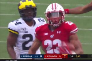 Michigan thumped on the road at Wisconsin