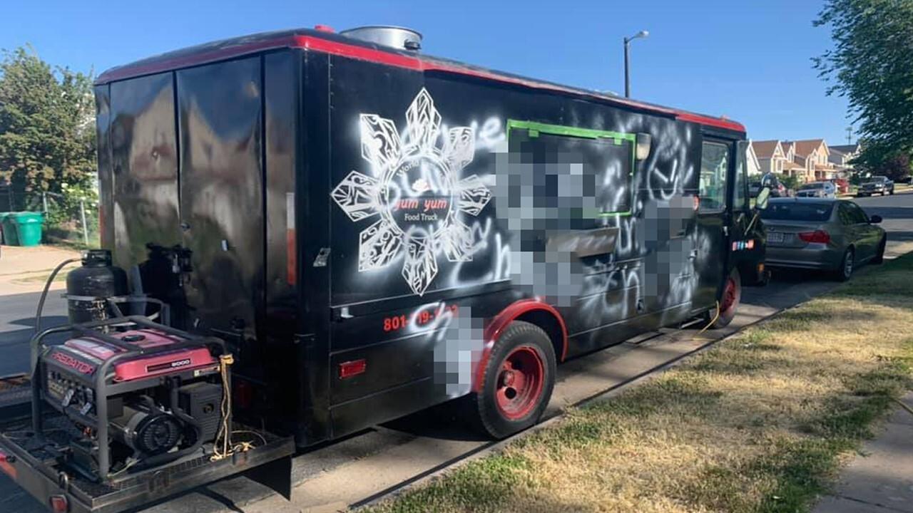 Yum Yum Food Truck vandalism