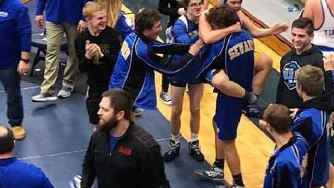 Freshman wrestler with Down syndrome shines at district tournment