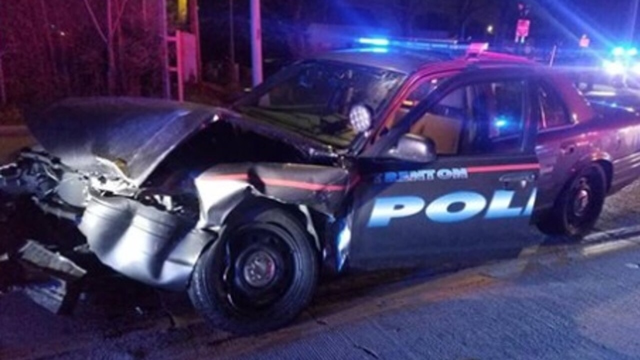 Police: Trenton officer involved in crash with distracted driver in Hamilton