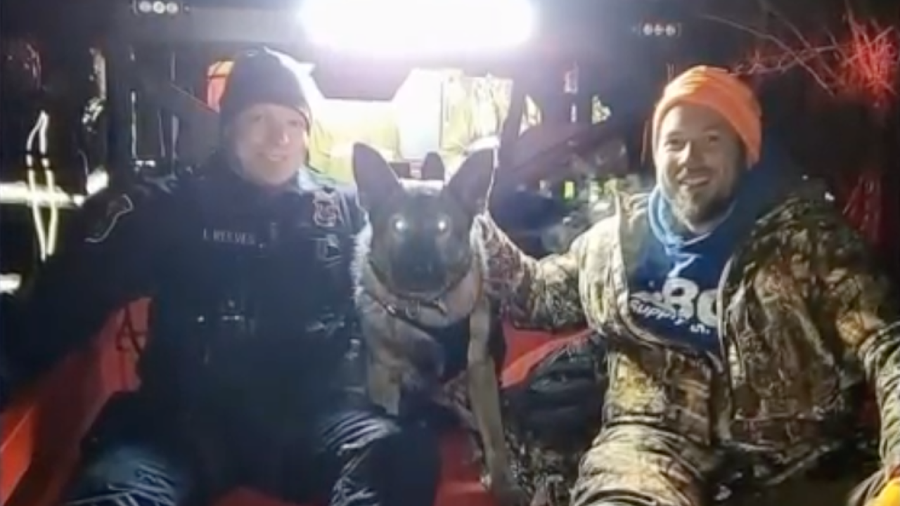 K-9 dog helps find missing hunter in Michigan