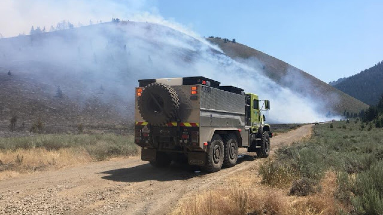 Evacuations underway as 2,000 acre fire burns