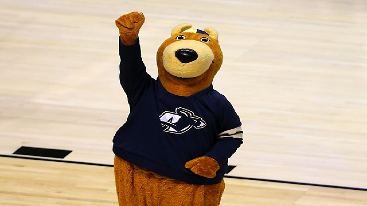 university of akron zippy mascot costume is returned one remains