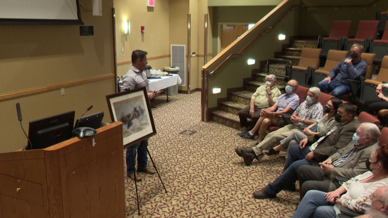 The museum and hospital hosted a ceremony on Wednesday to celebrate the purchase.