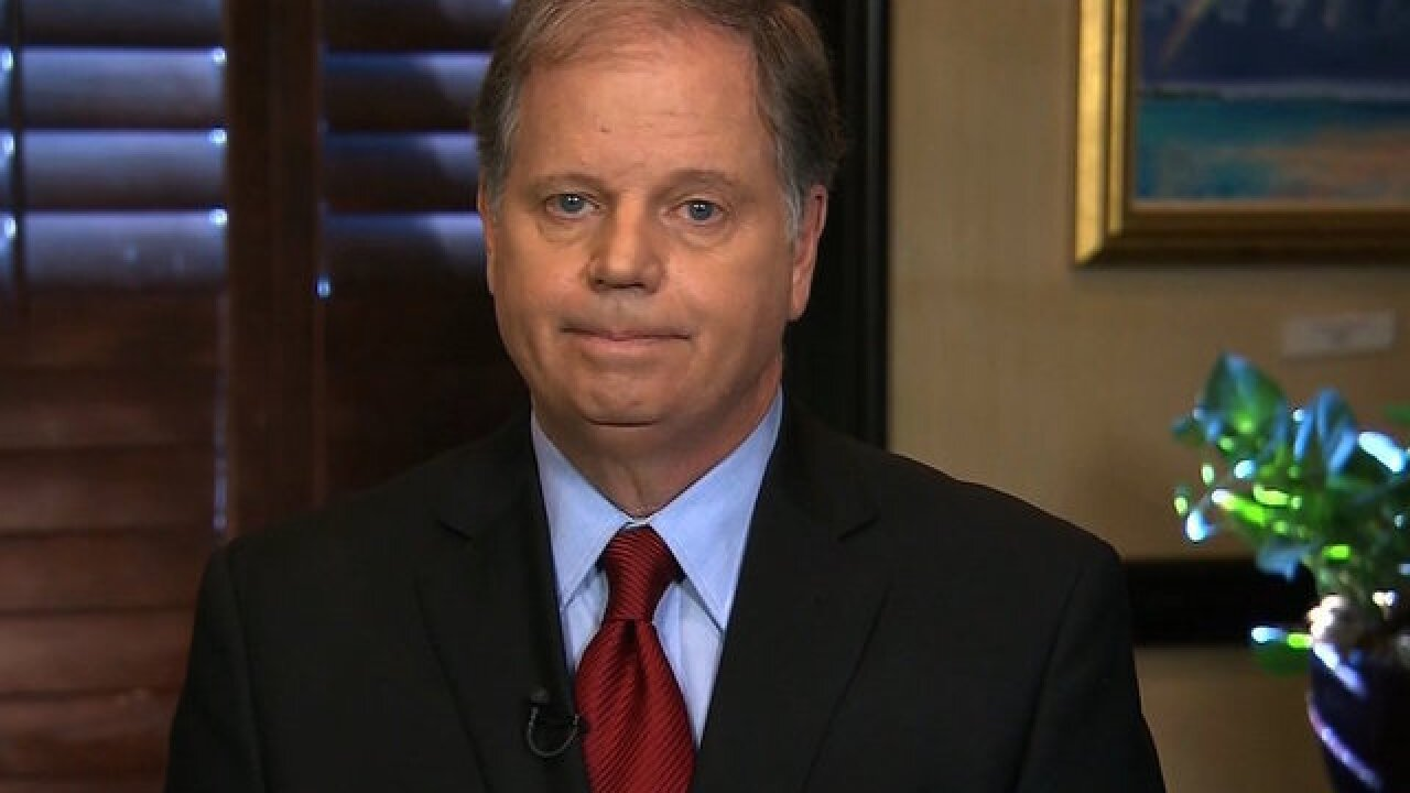 Doug Jones: Trump shouldn't resign over sexual misconduct allegations