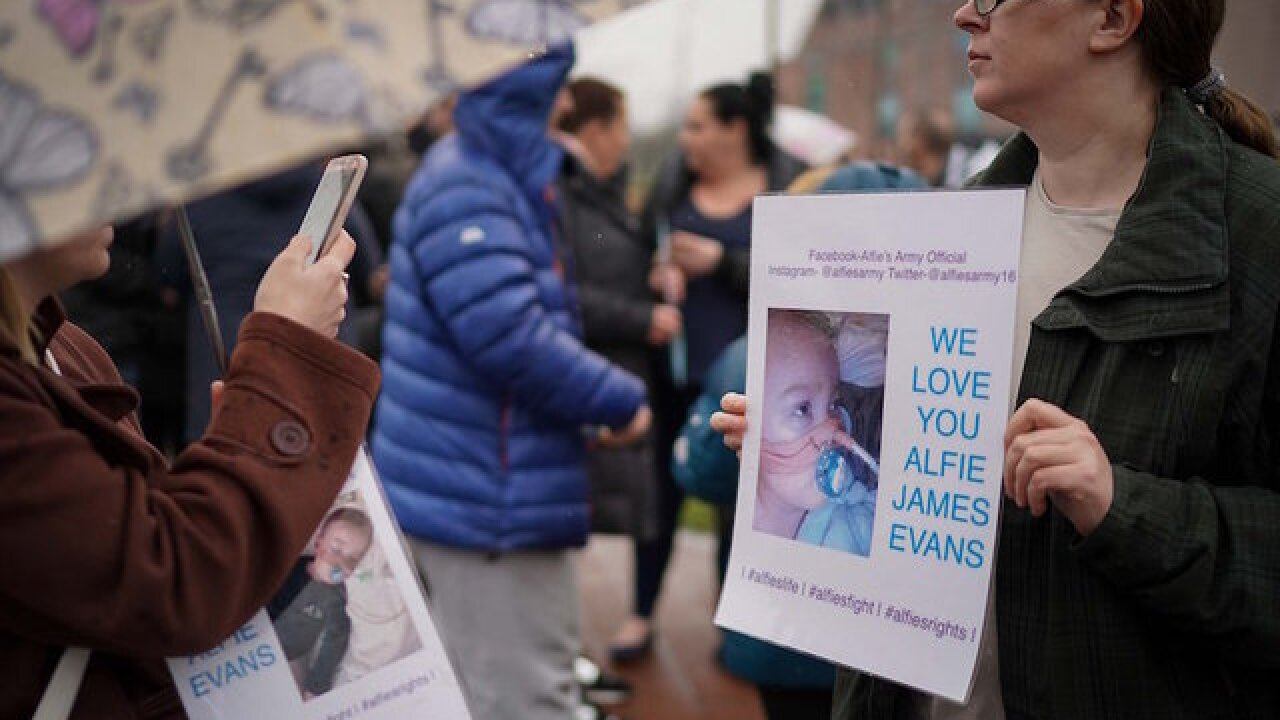 British toddler Alfie Evans dies after life support is withdrawn