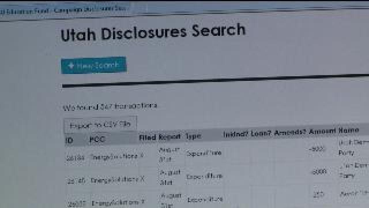 New searchable database for Utah campaign finance disclosures