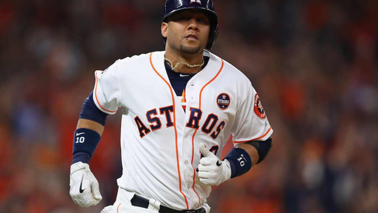 Astros player in trouble after racist gesture caught on camera at World Series