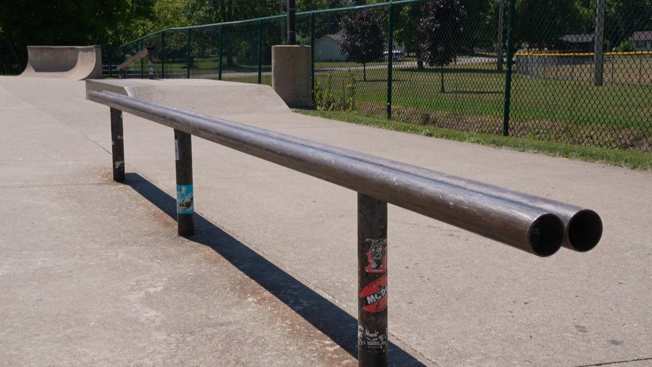 Bond Park skateboarding rail