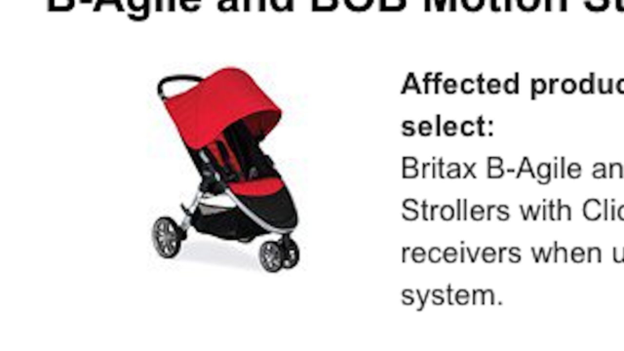 Britax recalls more than 700K strollers due to fall hazard