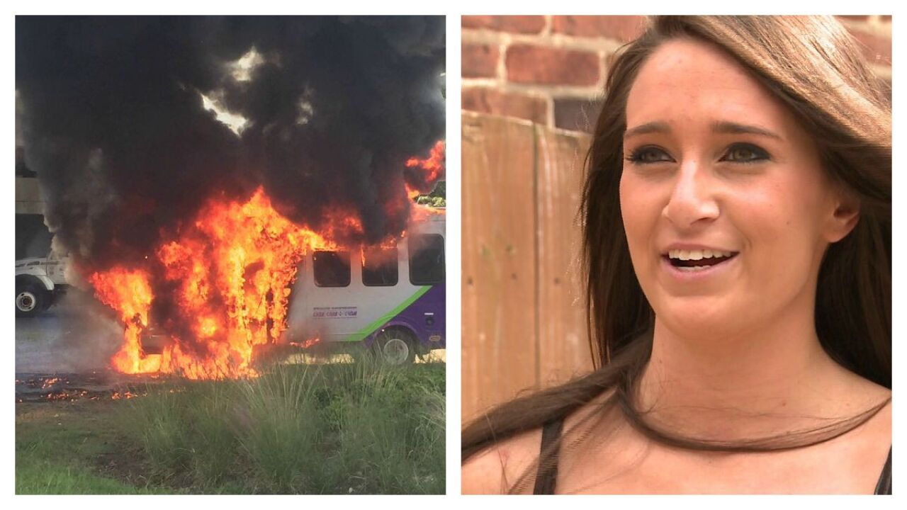 VCU student jumps into action when she spots flaming GRTCbus