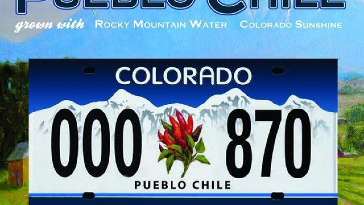 Gov. signs Pueblo chile license plate bill