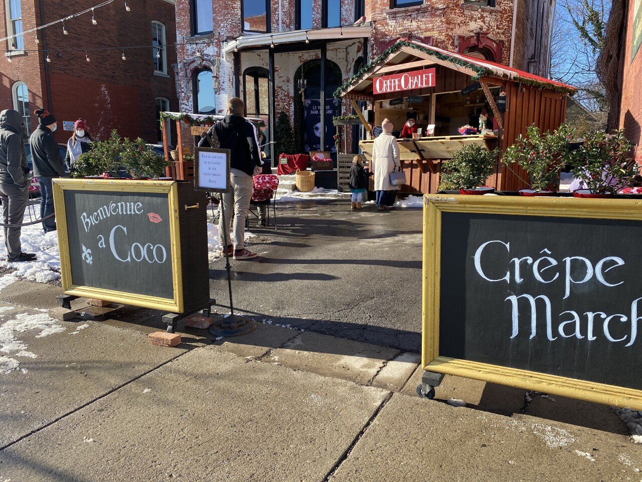 The Crepe Chalet at Coco is open Wednesday-Sunday