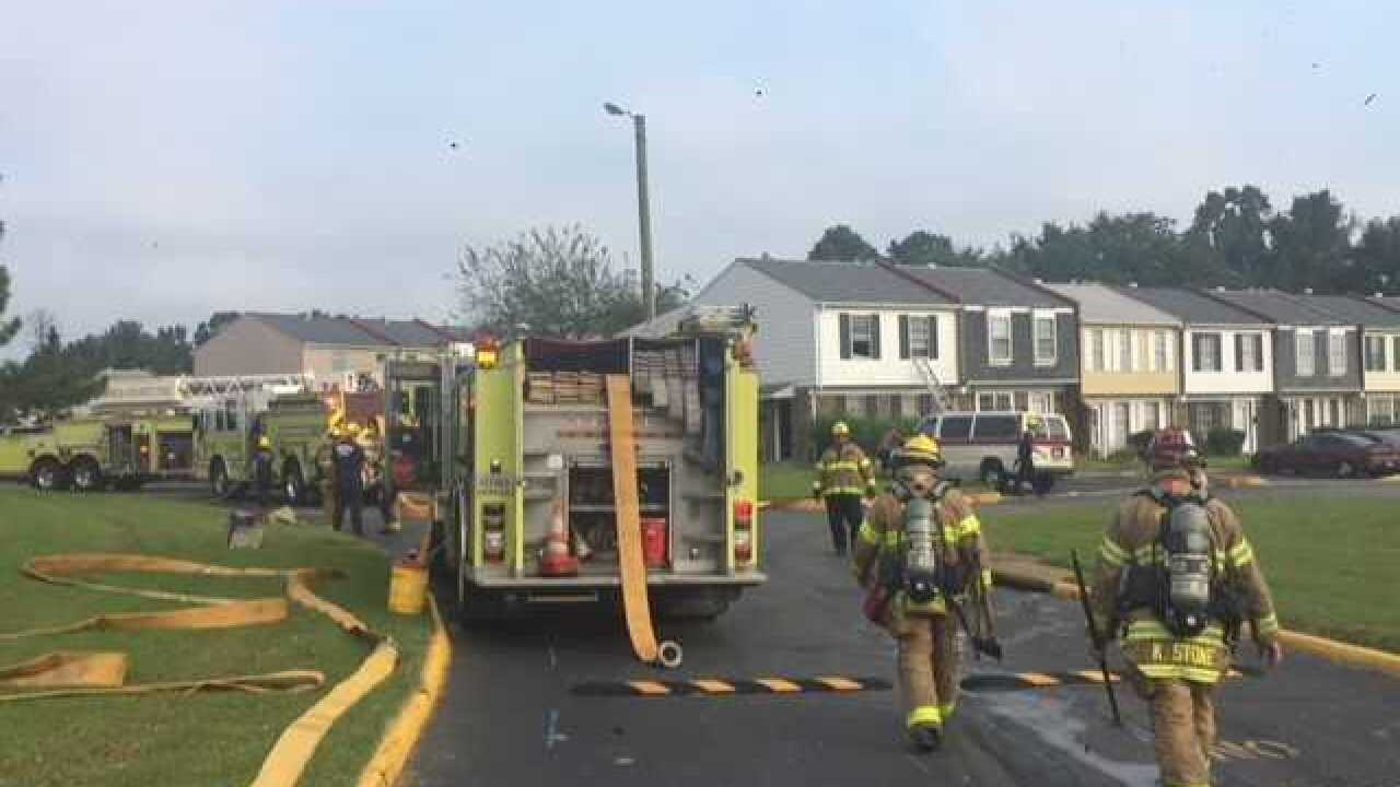 Firefighters save dog from Henrico townhouse fire that displaced family