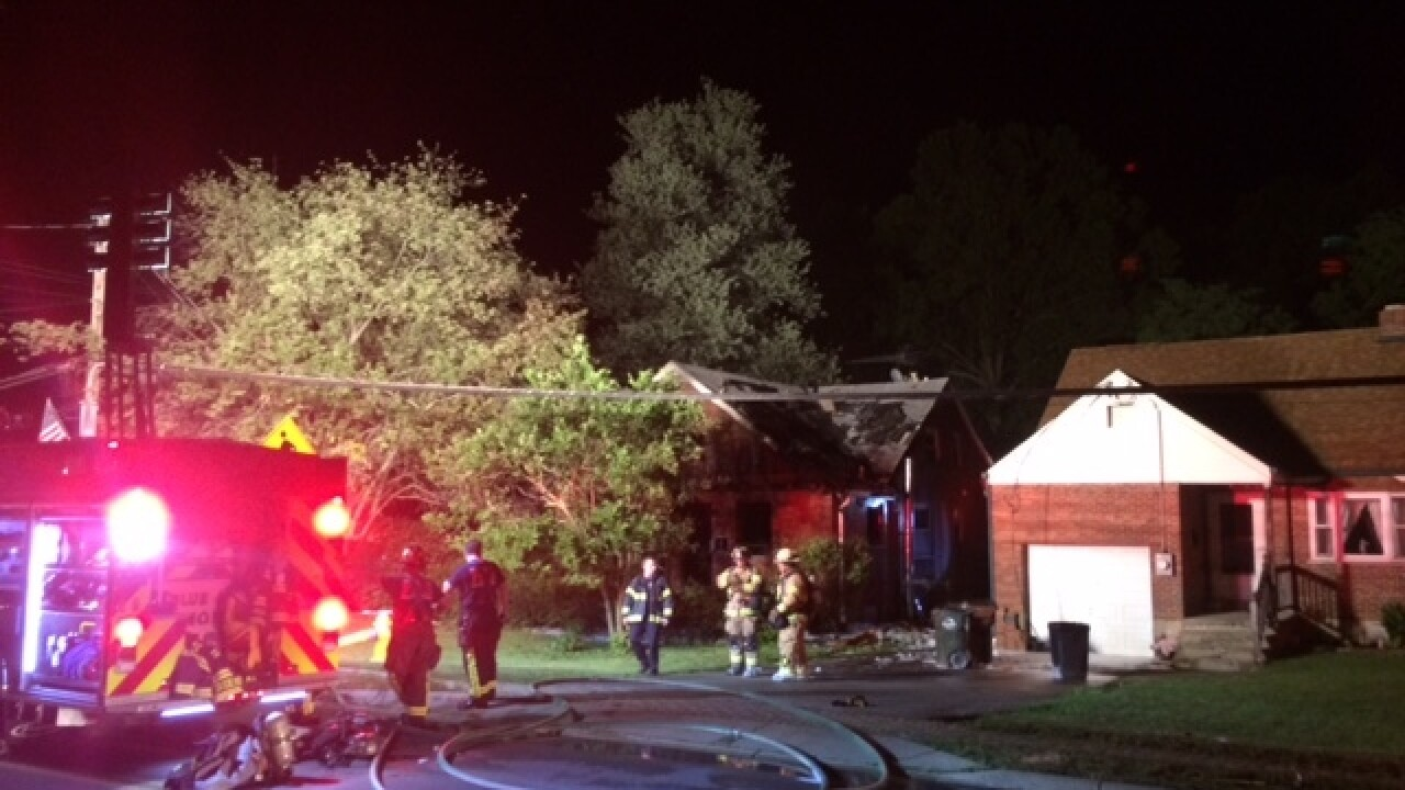 Man hospitalized after Blue Ash duplex fire