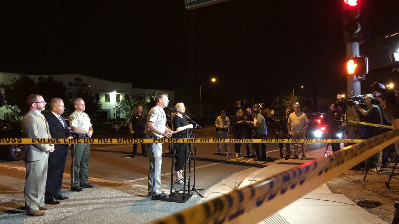 'Long and horrific gun battle' leaves one officer dead, two injured following California shootout
