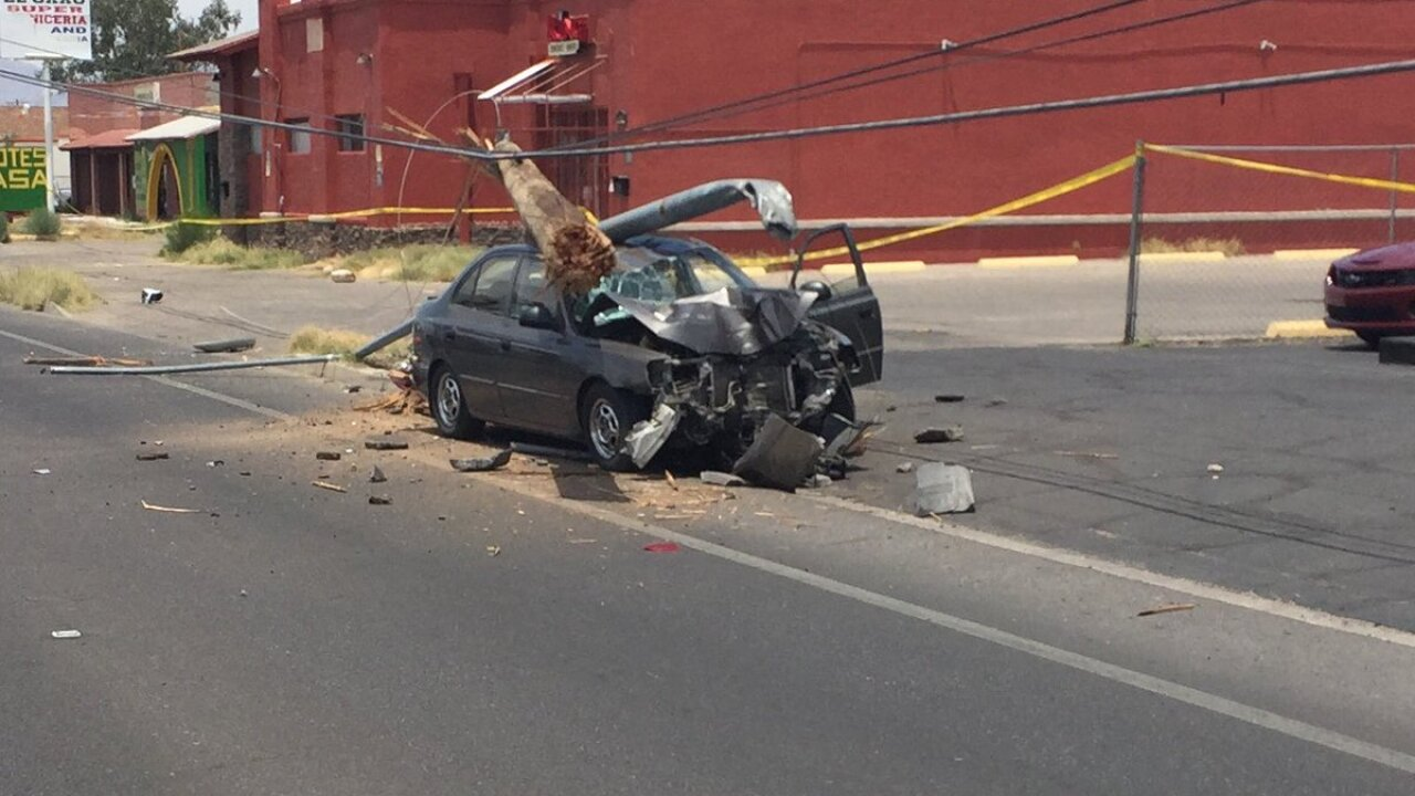 More than 2,500 lose power after car crashes into utility pole