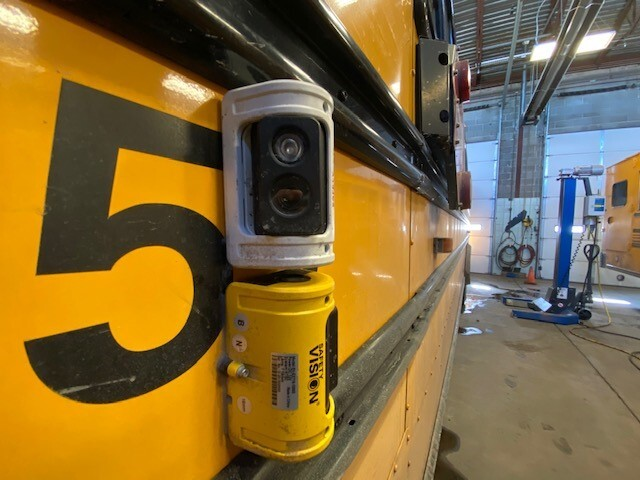 Exterior bus cameras