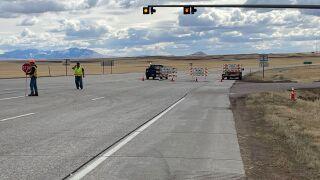 Crash is blocking traffic between Great Falls and Belt