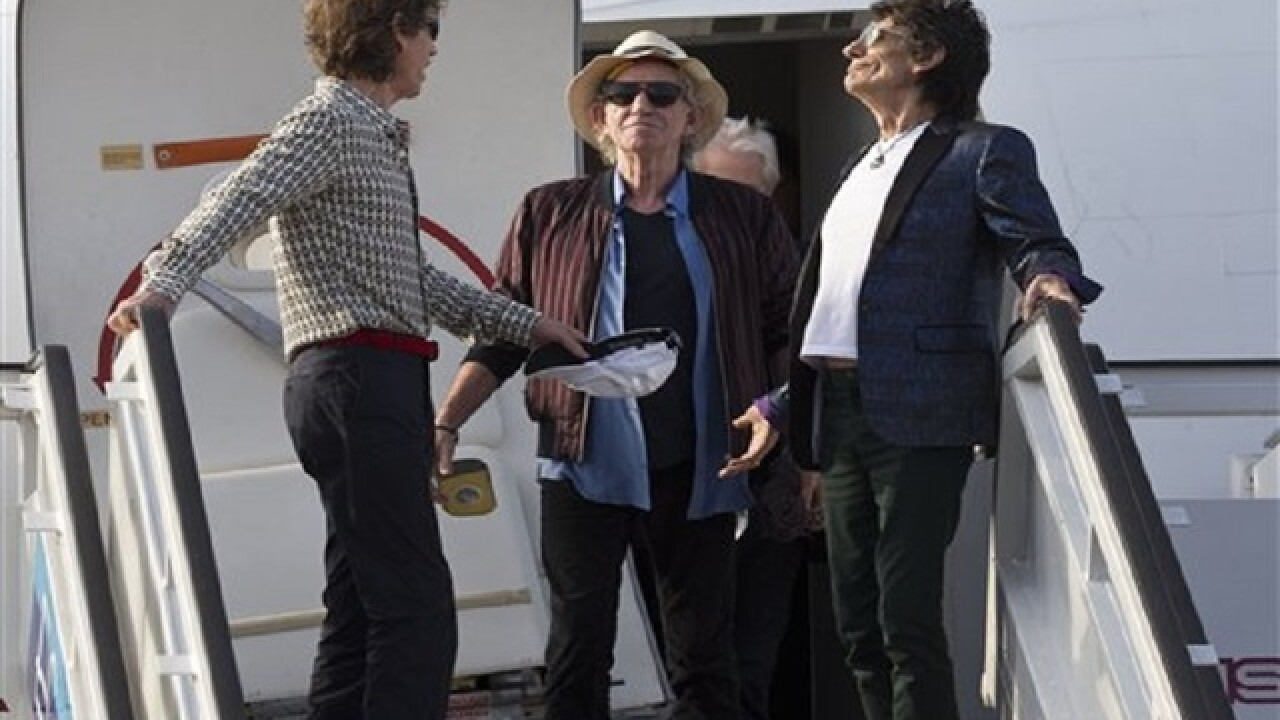 Rolling Stones arrive in Cuba for historic show