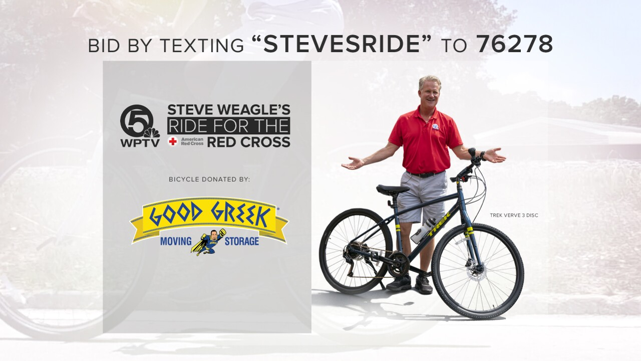 'Steve Weagle's Ride for the Red Cross' number for texting