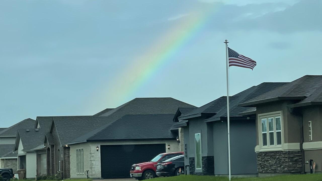 Rainbow over Rodd Field on CC South Side - By: Juan Acuna