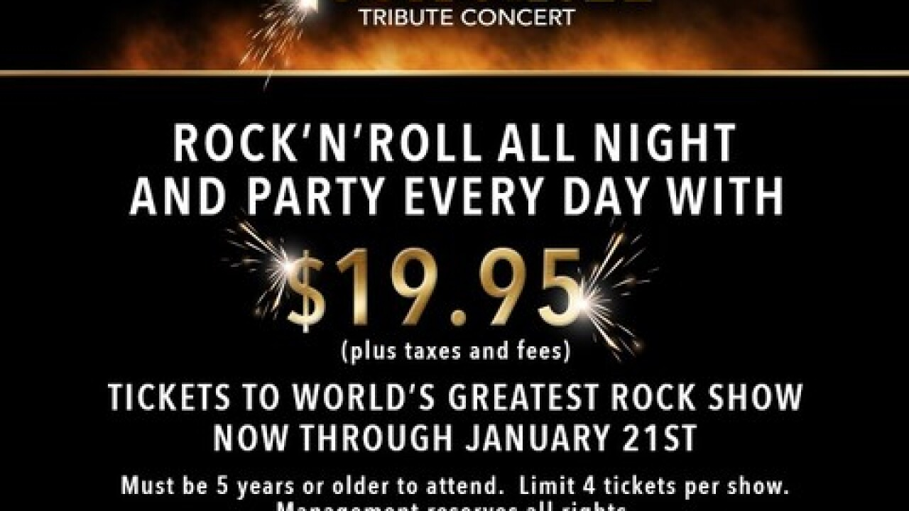 'World's Greatest Rock Show' announces a special ticket offer