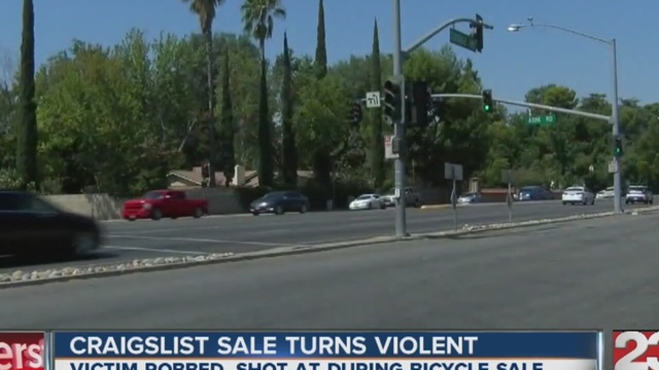 Person selling bicycle on Craigslist gets robbed, shot at in