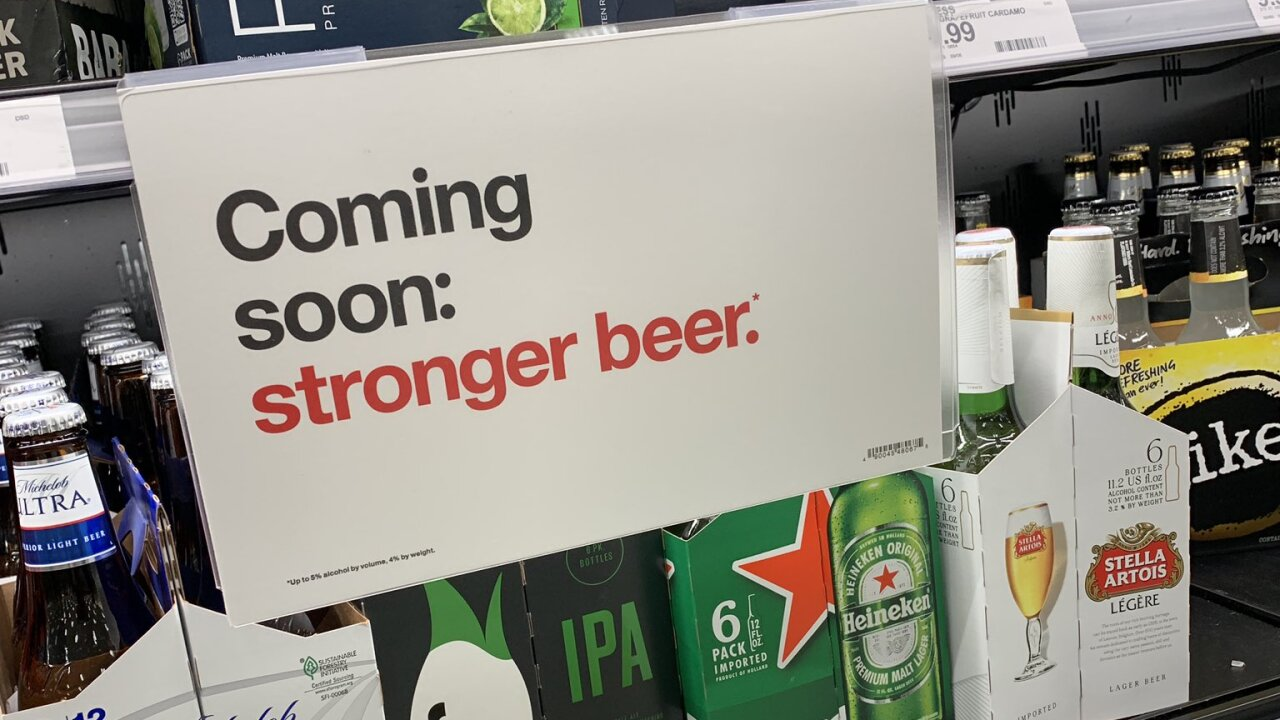 Stronger beer sign