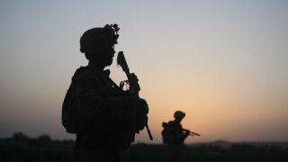 Service members patrol