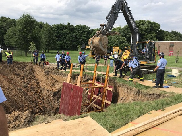 Man trapped in trench near Clifton Park