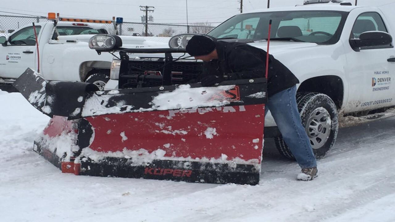Denver deploys residential snow plows tonight